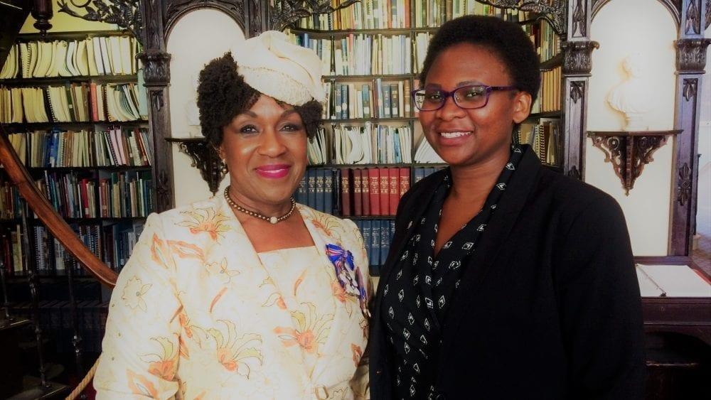 Irina-with-Hon-Mayann-Francis-at-Parliament-Library