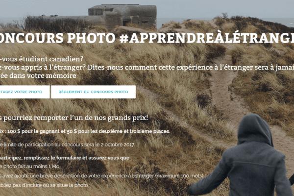 Racontez-nous votre expérience à l'étranger par une photo