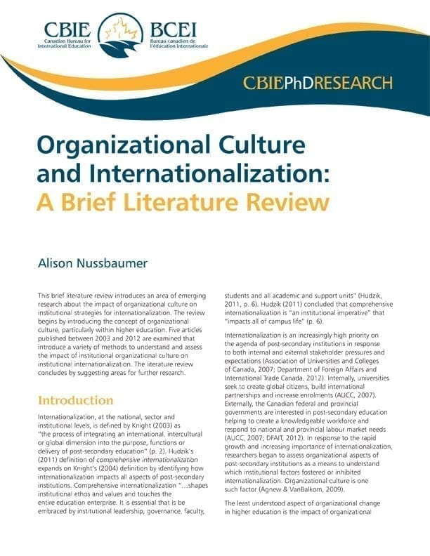 Organizational Culture and Internationalization