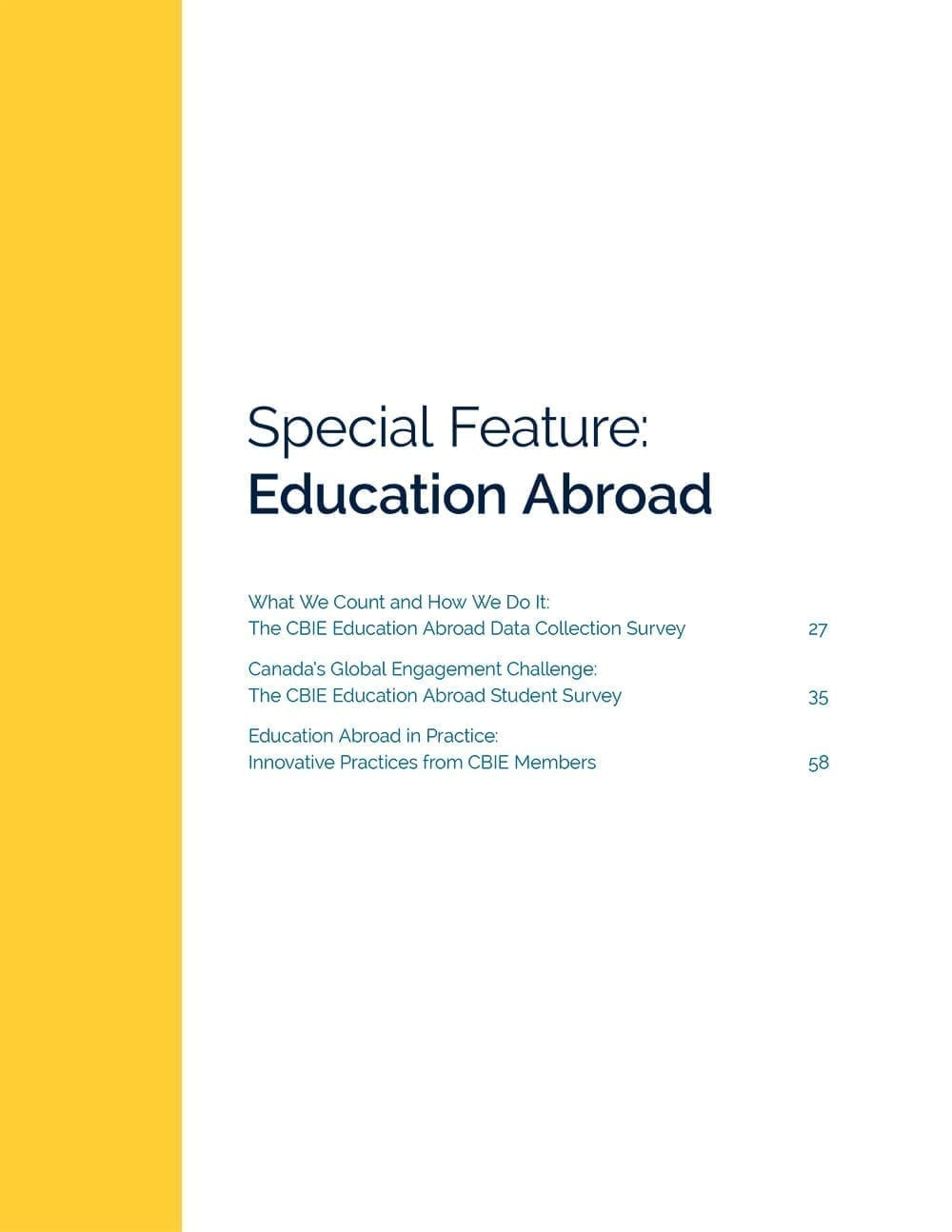 Special Feature: Education Abroad