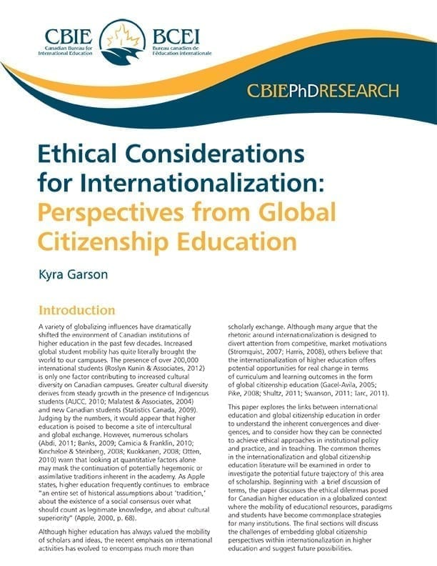 Ethical Considerations for Internationalization