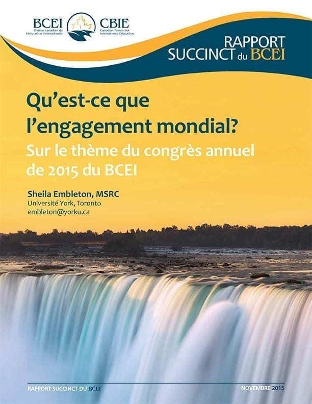 Qu'est-ce que l'engagement mondial? Sur le thème du congrès annuel de 2015 du BCEI