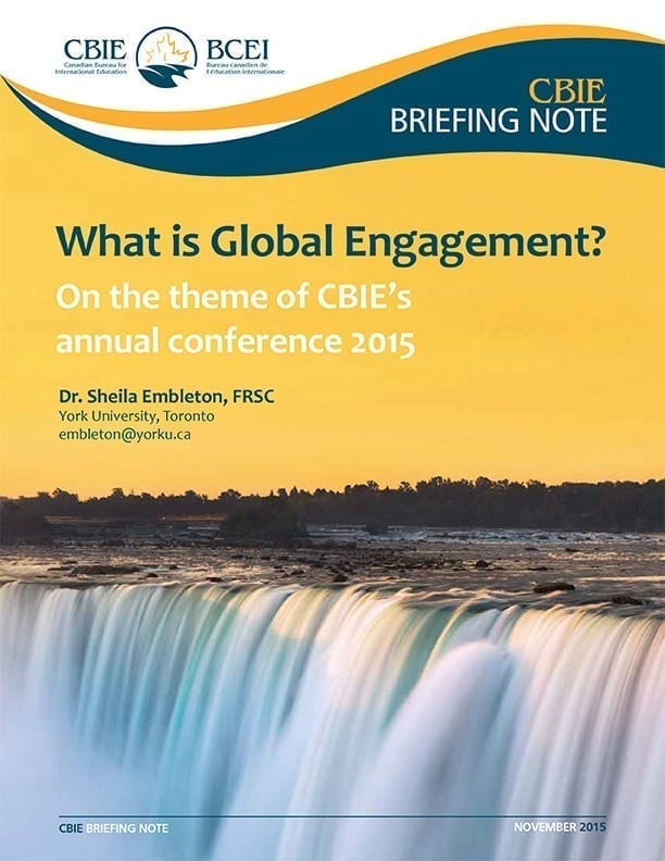 What is Global Engagement? On the theme of CBIE's annual conference