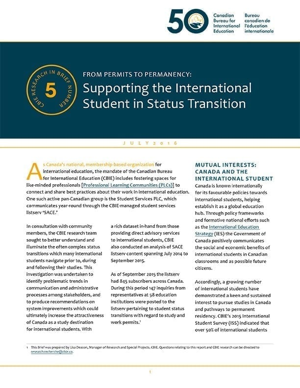 From Permits to Permanency: Supporting the International Student in Status Transition