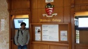 Nafiz Shuva inside Middlesex College Building