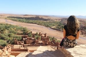 Overlooking an ancient village while learning abroad