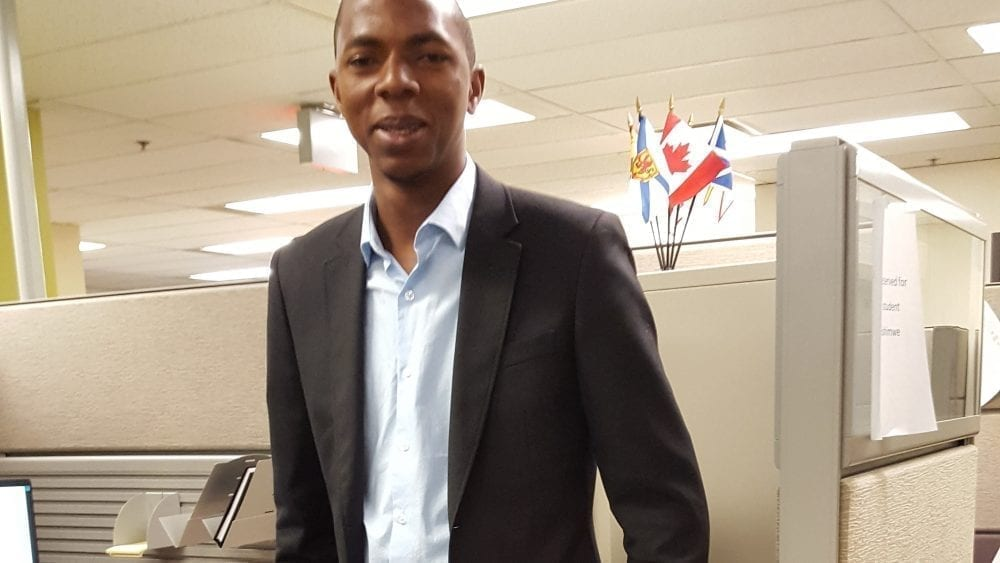 Aboubacar on site at his internship