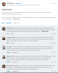 Screenshot of LinkedIn discussion