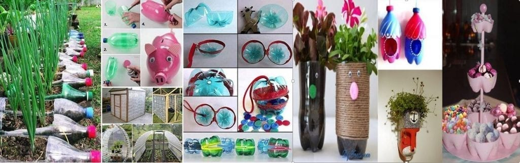 Articles made of reused plastic
