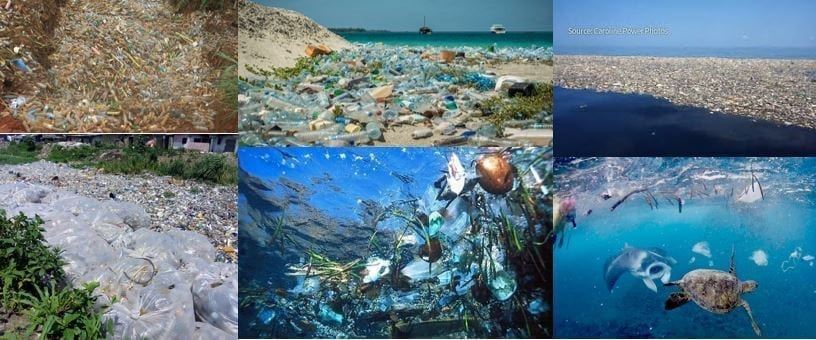 Oceans polluted by plastic