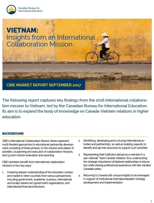 Vietnam: Insights from an International Collaboration Mission