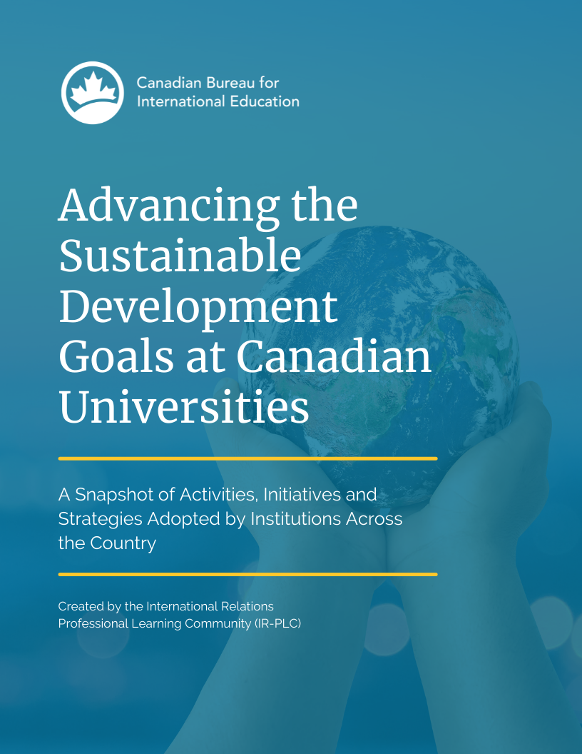 Advancing the Sustainable Development Goals at Canadian Universities